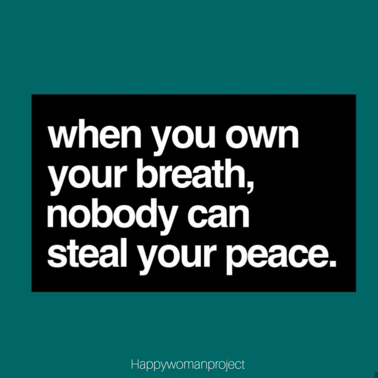 When you own your breath